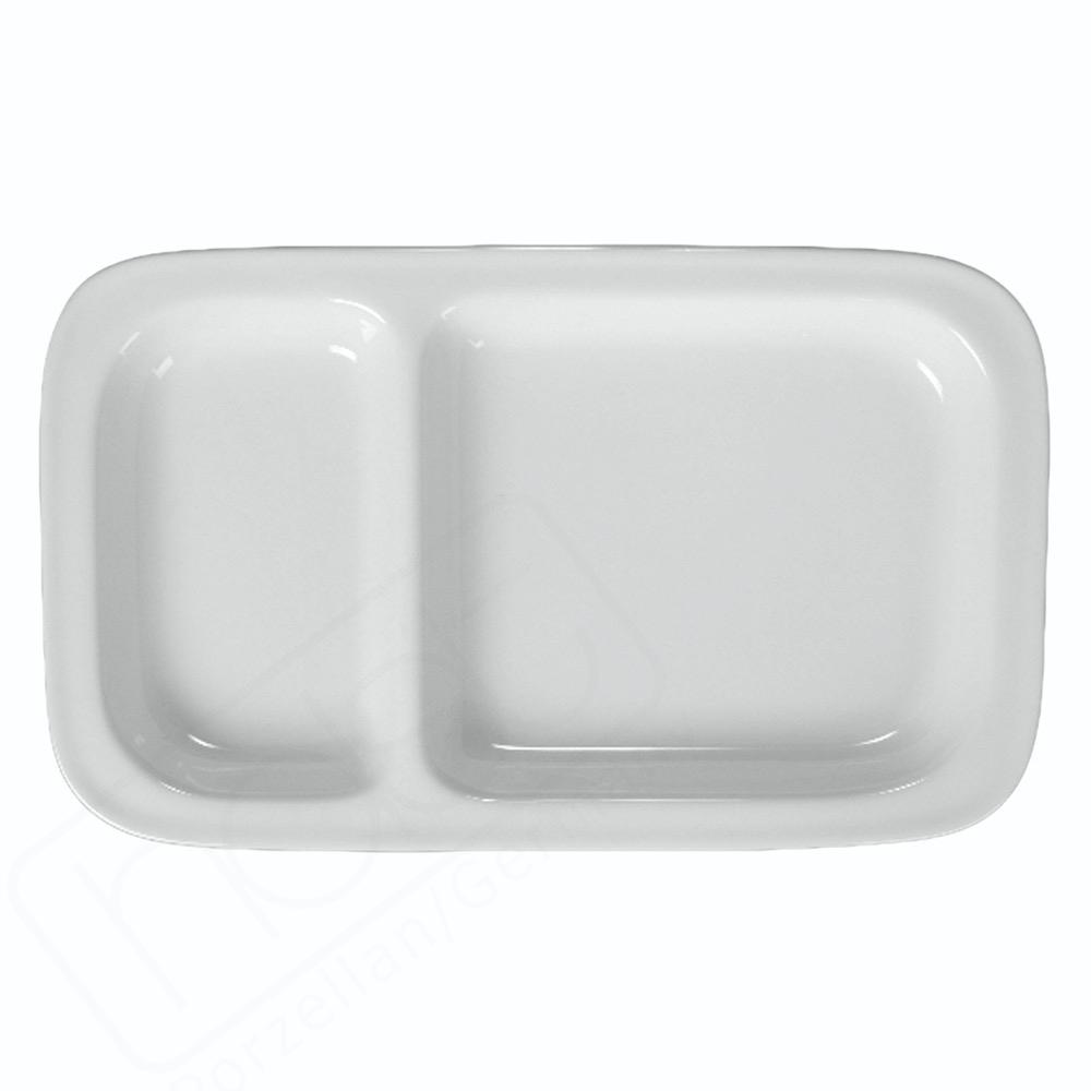 Abteilplatte 28,5 x 17,0 cm mit 2 Segmenten (**)