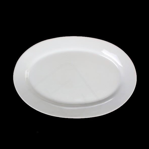 "Platte oval 31 x 22 cm ""Albergo"" halbtief"