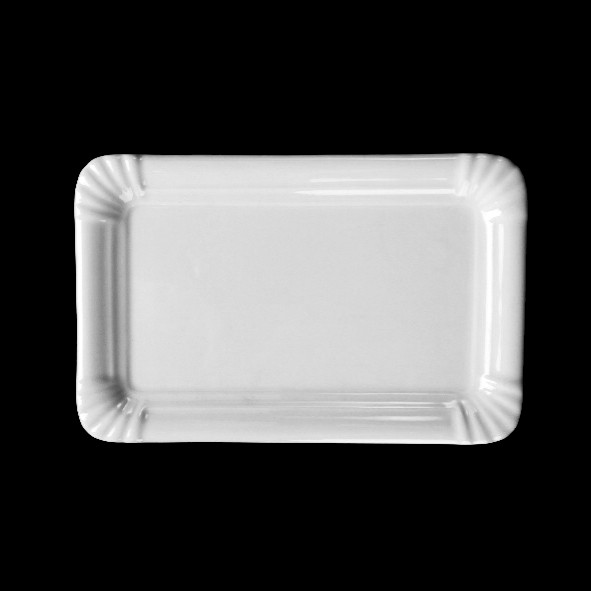 """Rechteckplatte 21 x 13 cm Pappoptik """"Snack Line"""""""