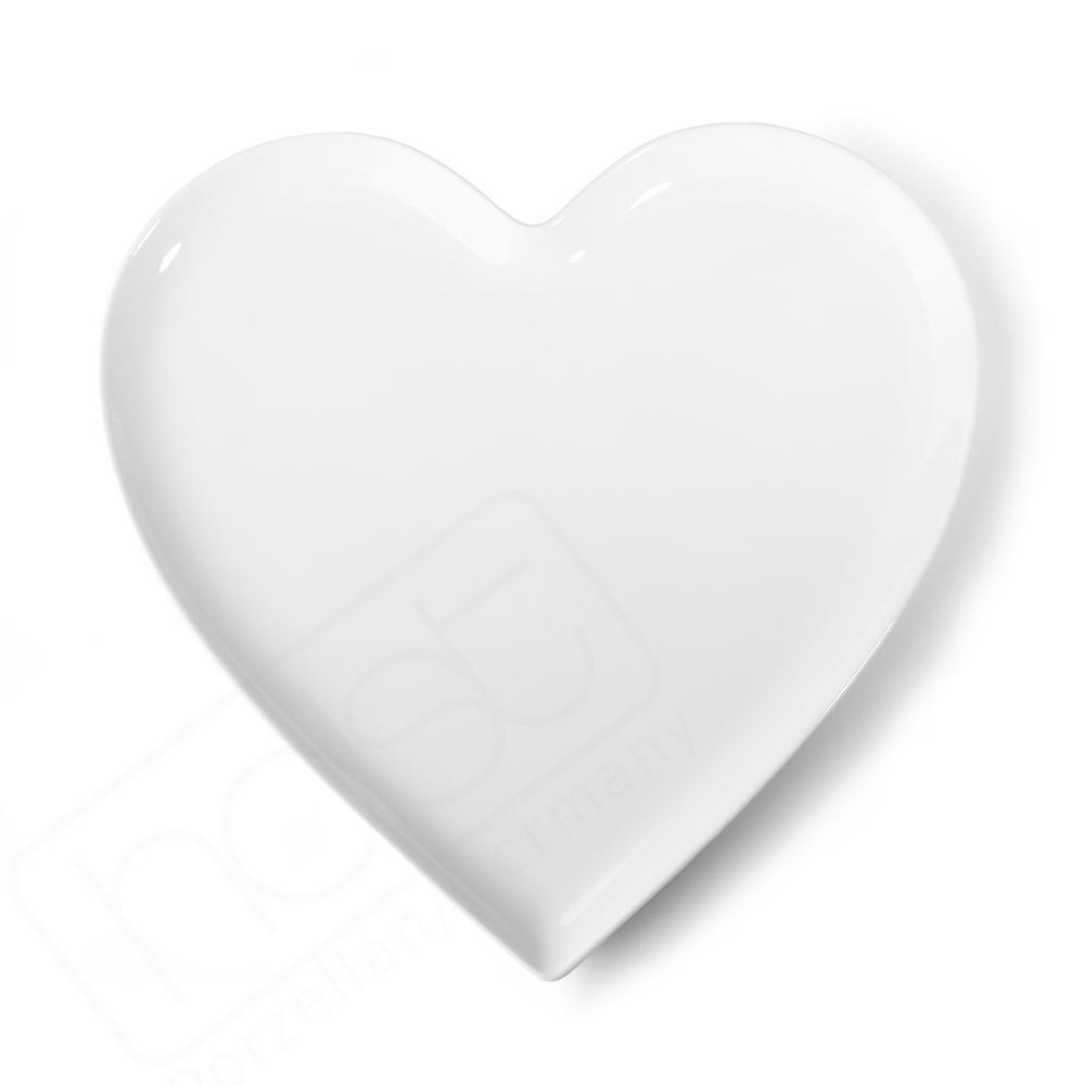 Heart shaped plate 26 cm