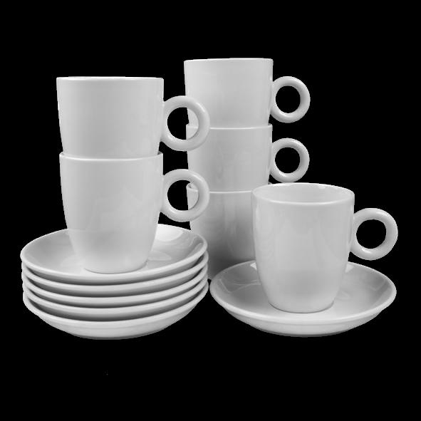 Vorteilspack 6er Set Milchkaffeetassen 0,38 l (**)