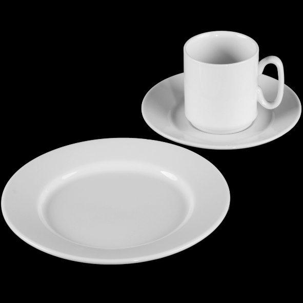"Kaffeegedeck ""VLT Ronald"" 3-tlg."