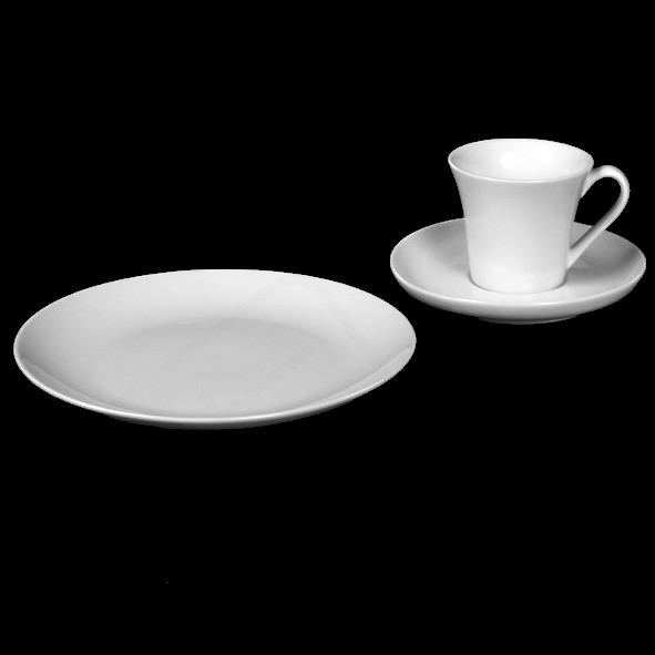 "Kaffeegedeck ""Maja"" & ""Maxima"" 3-tlg. rund"