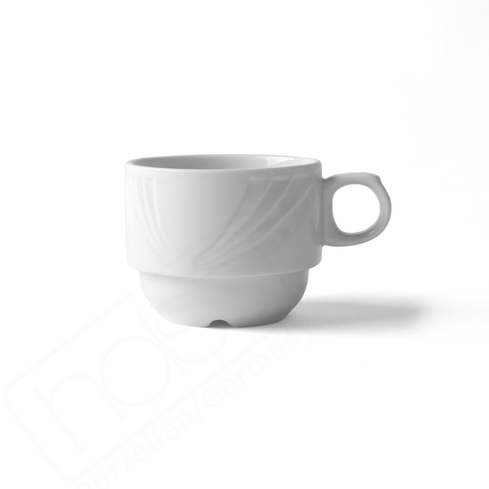 "Kaffeetasse stapelbar 0,22 l Reliefform ""Lubin"""