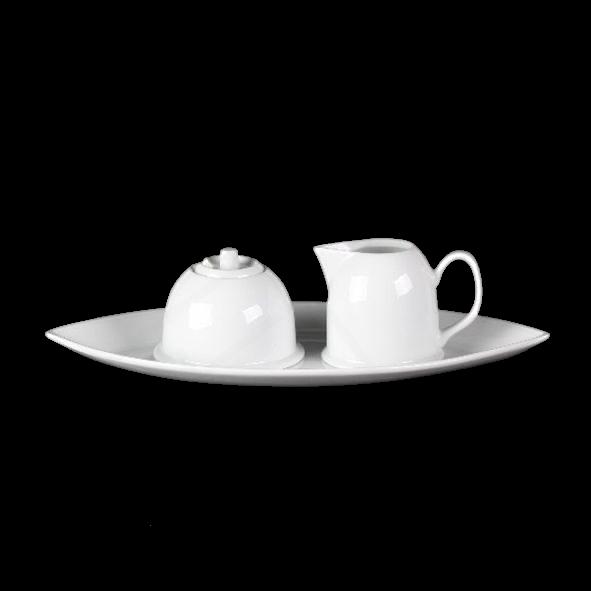 Milch- & Zucker-Set 3-tlg. oval 35 x 18 cm (**)