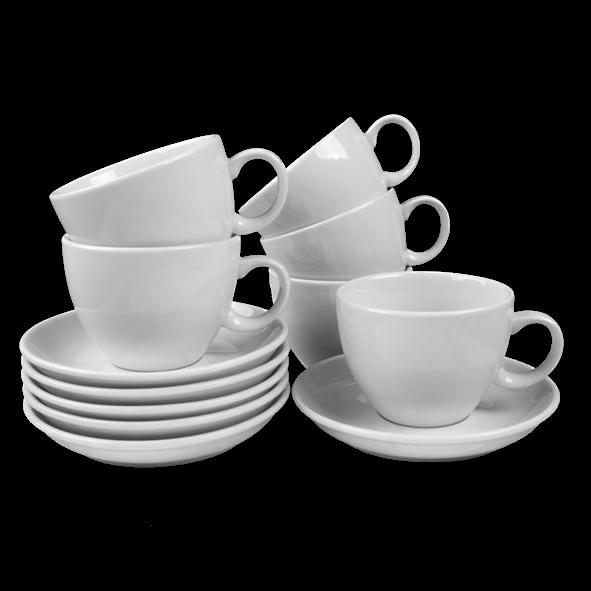 Vorteilspack 6er Set Milchkaffeetassen 0,39 l (**)