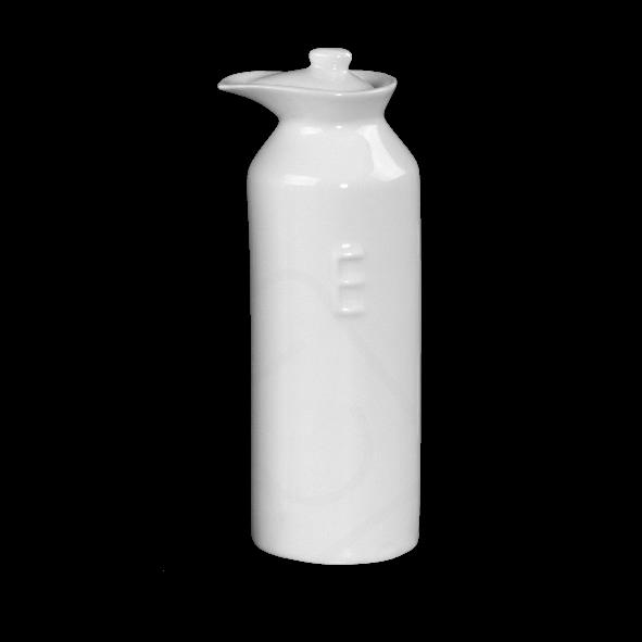 """Porzellanflasche mit Prägung """"E"""