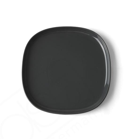 Flat plate 22 x 22 cm ''Skagen'' grey
