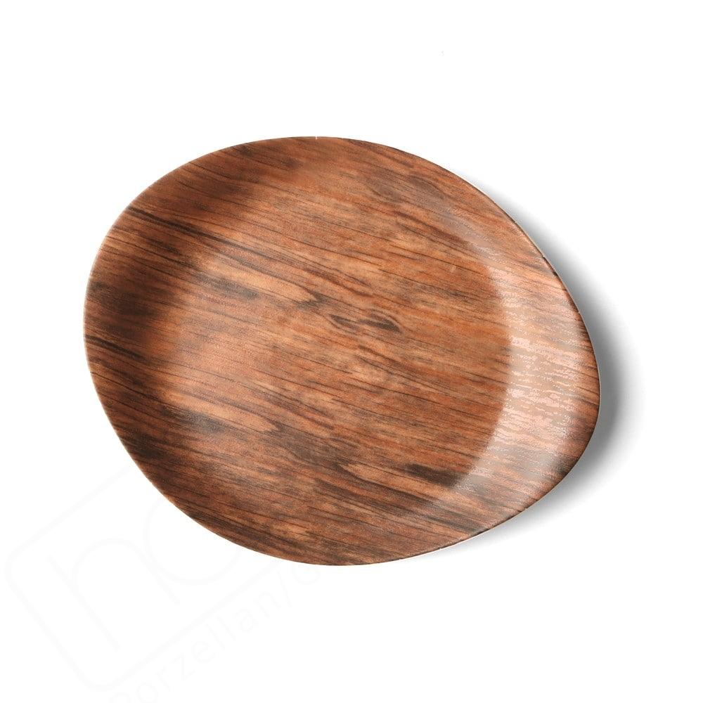 """Speisenplatte flach 26 x 21 cm """"Wood Design"""""""