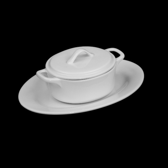 Modul-Set ''Cocotte'' with lid & Plate 2-pcs.
