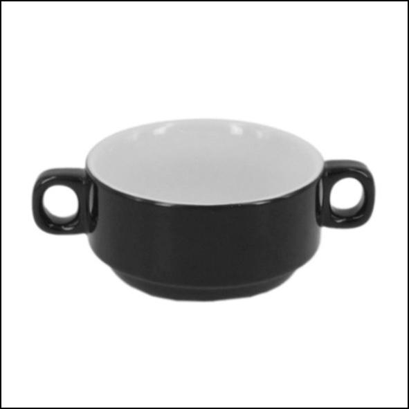 Soup cup black 0,25 l, stackable