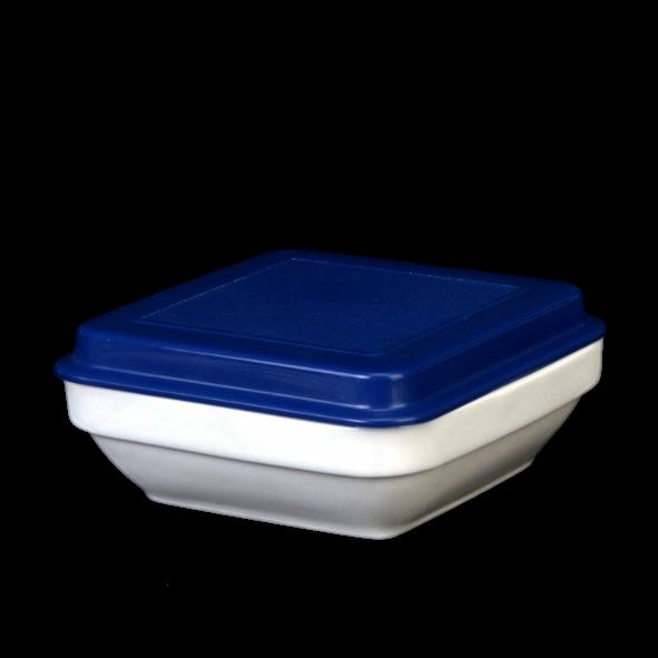 Systemschale 11 x 11 cm mit Deckel blau