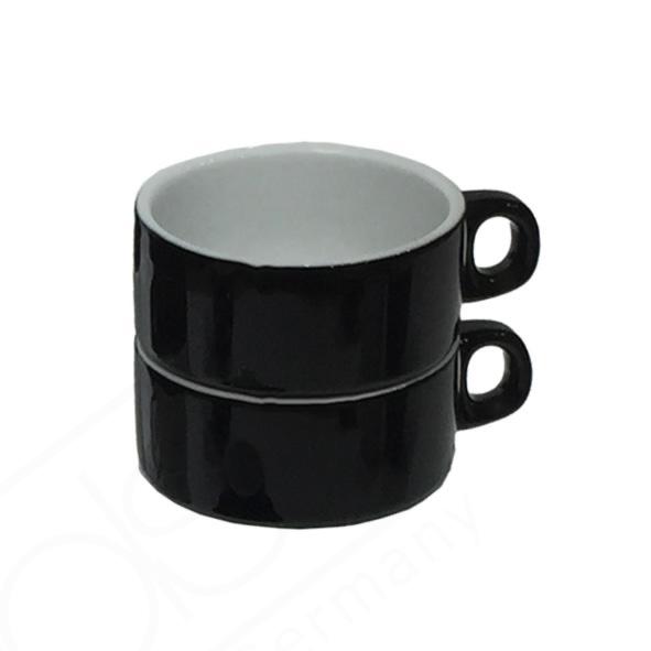 """Tee/Kaffeetasse """"Catering"""" 0,18 l stapelbar schwarz (**)"""