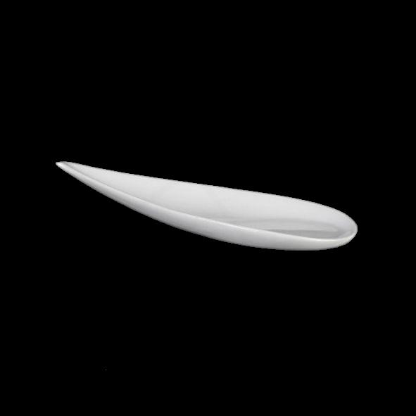"Teller flach 18 x 8 cm Tropfenform ""Teardrops"""