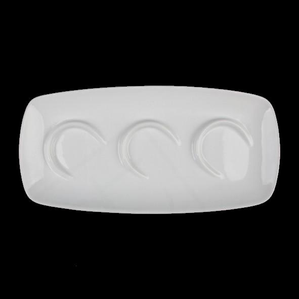 Appetizer Servierträger 29 x 14 cm weiß 3er