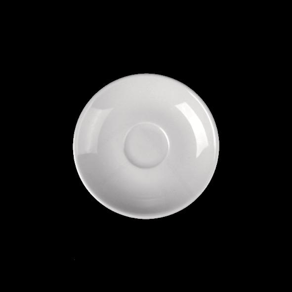 Untertasse 12,5 cm tiefe Form, Spiegel 3,6 cm (**)