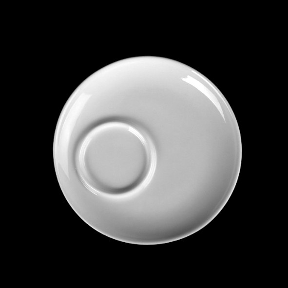 Untertasse 15 cm asymmetrisch, Spiegel 5,1 cm (*)
