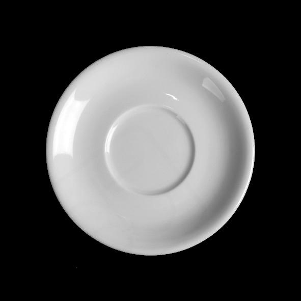 Untertasse 15,5 cm flache Form, Spiegel 6,3 cm (**)