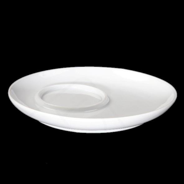 Untertasse 17 cm asymmetrisch, Spiegel 6,4 cm (*)