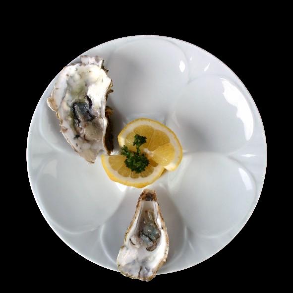 Austernteller 23 cm für 6 Austern (**)