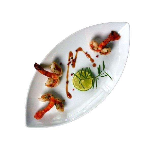 "Platte oval 35 x 18 cm Schiffchenform ""Bateau"""
