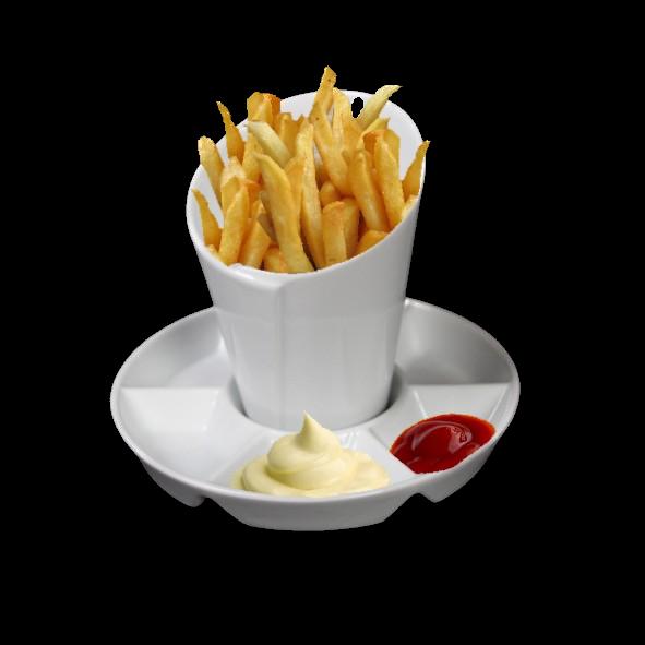 Pommesschale & Frittentüte Servierset 2-tlg.