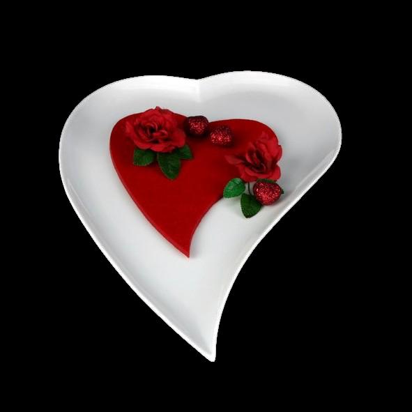 Heart shaped plate 18 cm