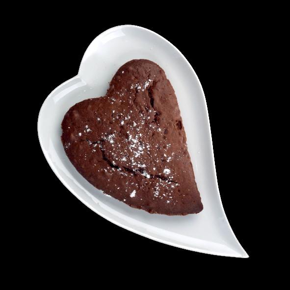 Heart shaped plate 36 cm