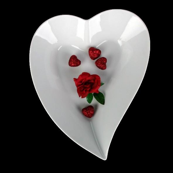 Herzschale modern 32 cm