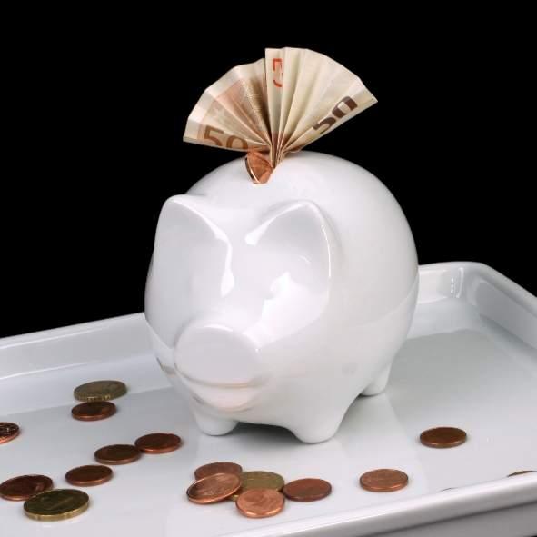 Geld-, Tip-, Trinkgeld Sparschwein 13 x 9,5 cm