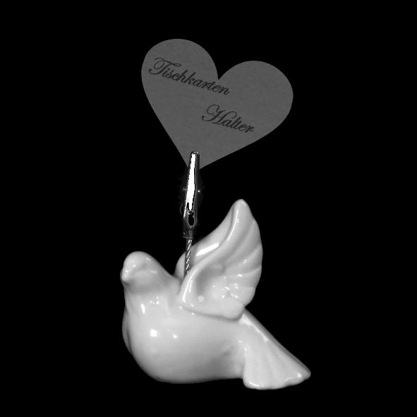 Card holder dove flying