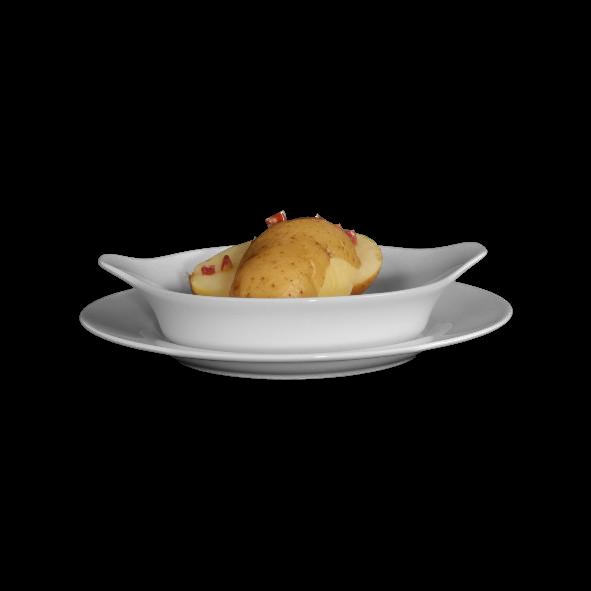 Gratinschale & Eierpfanne rund 15 cm a. Teller VLT