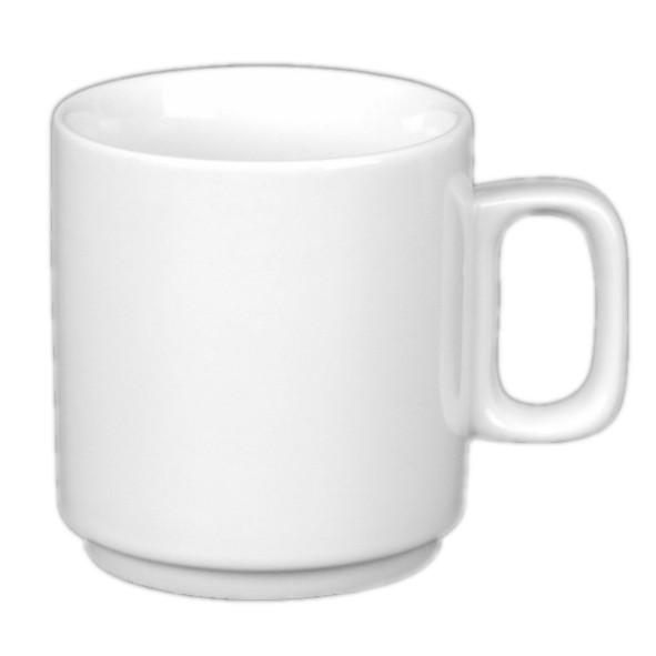 """Kaffeebecher 0,22 l """"Blockhenkel"""" stapelbar"""