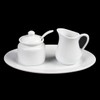 Milch- & Zucker-Set 3-tlg. oval 20 x 15 cm (**)