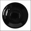 Untertasse 16 cm flache Form schwarz, Spiegel 5,7 cm