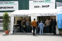 Verkaufsstand bei den Gerry Weber Open