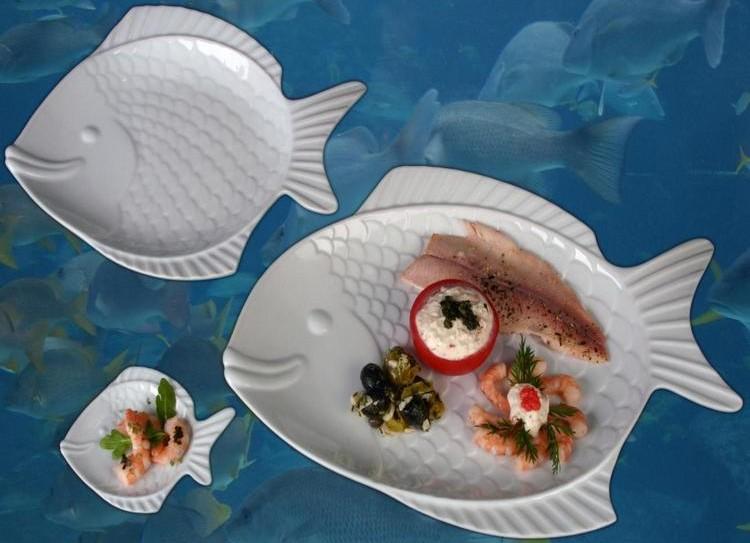 Porzellanteller Form Fisch Nemo günstig online kaufen!