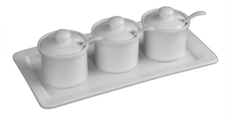 Tischdosen und Zuckerdosen aus weißem Porzellan günstig kaufen!