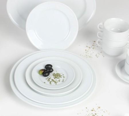 Suppentasse Smart aus weißem Porzellan für Bankett und Catering