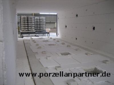 Bisquitbrand bei der Herstellung von Porzellan