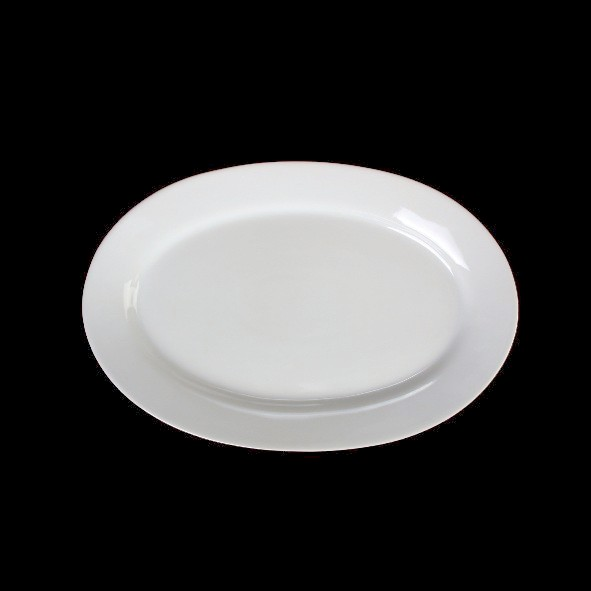 """Plato de Porcelana medio-bajo ovalado 25 cm ''Albergo"""" - 2a Calidad"""