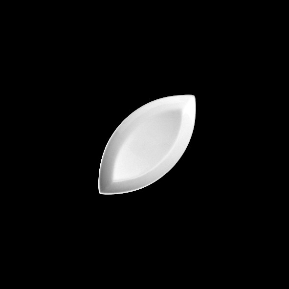 "Platte oval 10 x 5 cm Schiffchenform ""Bateau"" (**)"