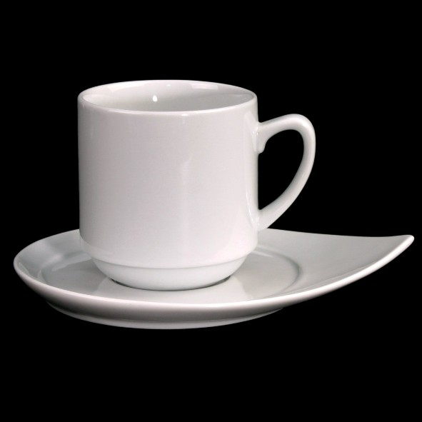 "Mug ""Sabine"" 0,28 l, stackable with saucer"