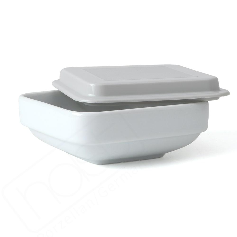 Porzellan Schalenset 0,30 l / 15 cm mit Deckel grau niedrig