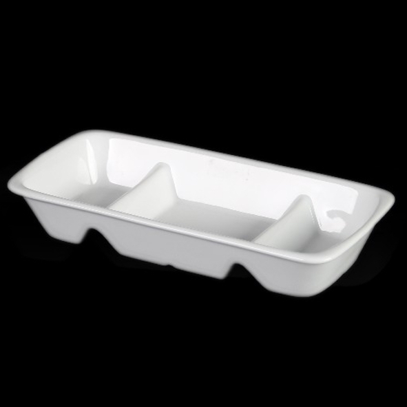 Segment dish 20,0 x 10,0 cm , stackable
