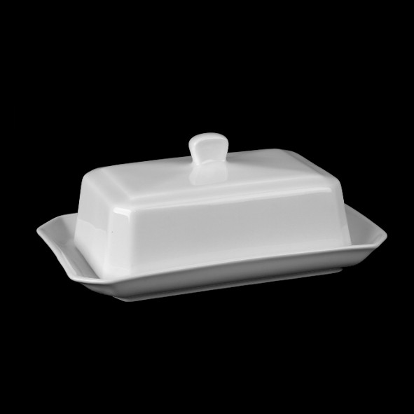 Butter dish with lid, 18 cm - 2nd Choice (*)