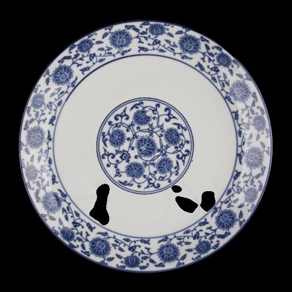 Flat plate 27 cm ''Qing Hua Ci''