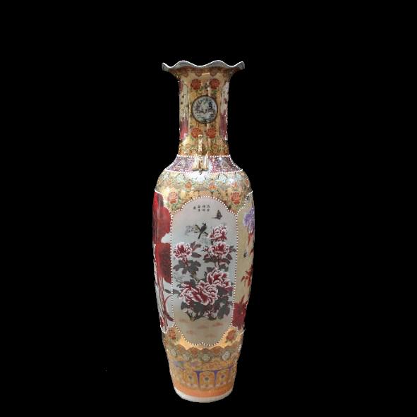 Chinesische Bodenvase Lotus & Peach 160 cm (**)