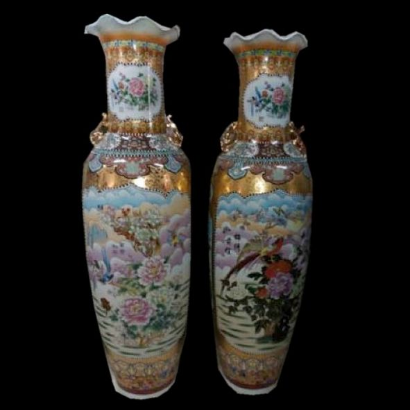 Chinese floor vase Cloud & Birds 180 cm