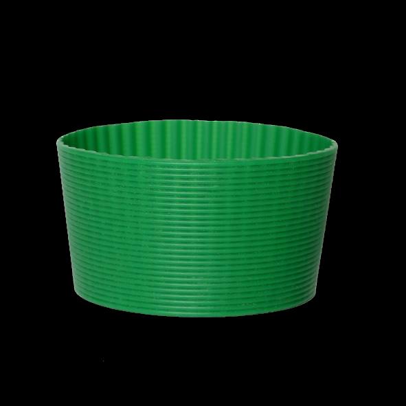 Silikonbanderole grün für Becher 0,30 l